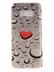 For Samsung Galaxy S8 Plus S8 Case Cover Love Water Drops Pattern HD Painted TPU Material IMD Process Phone Case S7 edge S7 S6 edge S6