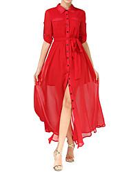 Weiya ji équipé automne et l'hiver 2016 nouvelle vague de robe tempérament européen et américain dames robe chemise gilet homme épongeant