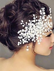 Недорогие -Хрусталь ободки Цветы Прически Инструмент для волос венки Зажим для волос 1 Свадьба Особые случаи Повседневные на открытом воздухе
