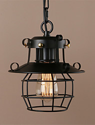cheap -Vintage Retro Style Wrought Iron Small Iron Cage Pendant Lamp Sitting room Dining Room Bedroom Balcony Coffee Shop Bar