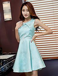 Dress temperament ladies skirt Slim sleeveless dress 2017 summer new princess dress chaired