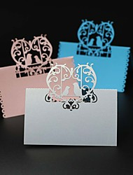cheap -40pcs Love Birds Laser Cut Party Table Name Place Cards Wedding Cards Table Decoration Mariage Favors And Gifts Party Supplies