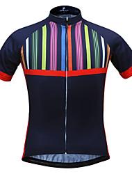 levne -JESOCYCLING Dámské Krátký rukáv Cyklodres - Černá/světle červená Jezdit na kole Dres, Rychleschnoucí, Odolný vůči UV záření, Prodyšné,