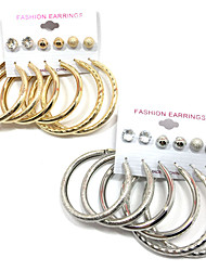 cheap -Women's Stud Earrings Hoop Earrings AAA Cubic Zirconia Pendant Costume Jewelry Multi-ways Wear Alloy Round Jewelry For Wedding Party