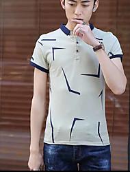 2017 summer new men's lapel short-sleeved T-shirt Slim Korean version of casual men's Polo shirt tide youth