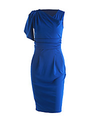 cheap -Women's Chic & Modern Bodycon Dress - Solid Color, Modern Style Pure Color
