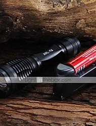 Torce LED Torce LED 2000 Lumens 5 Modo Cree XM-L T6 Messa a fuoco regolabile per Campeggio/Escursionismo/Speleologia Uso quotidiano