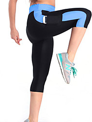 cheap -Women's Gym Leggings Running Tights Breathable Compression Lightweight Materials Stretch Bottoms Yoga Exercise & Fitness Running Polyester