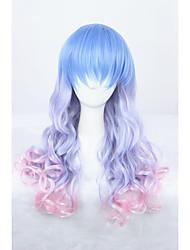 Medium Long Wave Color Mixed Girls Synthetic 24inch Anime Lolita Hair Wig CS-286A