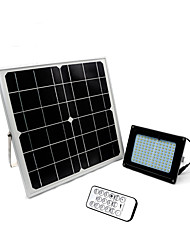 cheap -1pc LED Floodlight Lawn Lights Remote Controlled Solar Dimmable Waterproof Light Control Outdoor Lighting Cold White
