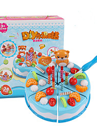 Pretend Play Toy Kitchen Sets Toy Foods Toys Circular Friut Simulation Boys' Girls' Pieces