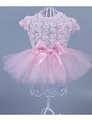 Gatto Cane Vestiti Abbigliamento per cani Casual Di tendenza Fiore Rosa 10 12
