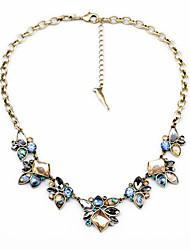 Недорогие -Жен. Пряди Ожерелья Кристалл В форме цветка Уникальный дизайн Euramerican бижутерия Бижутерия Назначение