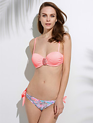 Bikini Da donna Boho Imbottito / Con ferretto / Push-up All'americana Nylon / Elastene
