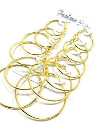 Náušnice - Kruhy Náušnice Set Šperky Základní design Multi-způsoby Wear Slitina Zlatá Stříbrná Šperky ProSvatební Párty Halloween