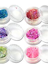 13bottle/set Fashion Colorful Glitter Shell Paillette Sweet Style Nail Art Decoration Beautiful Nail DIY Decoration BK01-13
