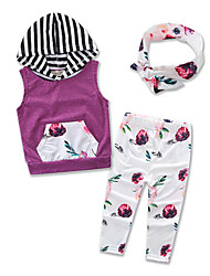 Girl Kids Clothes Leisure Suit Kids Cottom Stripe Hoodies Long Pants Baby Clothing Girls Set