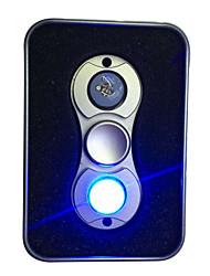 Toupies Fidget Spinner à main Jouets Deux Spinner Aluminium EDCEclairage LED Soulagement de stress et l'anxiété Jouets de bureau Soulage