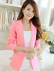 cheap -Women's Suits - Solid, Pure Color Shirt Collar