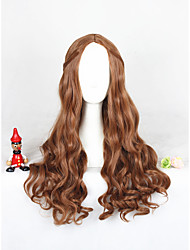 Long Wave Brown  Cosplay Wigs Synthetic 24inch  Anime Wig CS-304A