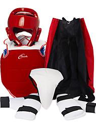 abordables -Support Rembourré / Protections Avant-bras / Coquille Slippée pour Taekwondo / Boxe / Karaté Professionnel / Ajustable / Respirable Entraînement / Athlétique faux cuir / EVA 1 set Rouge / Bleu