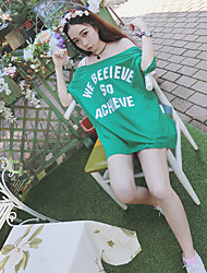 Sign 1998 # bf wind collar long section of loose letters strapless short-sleeved T-shirt