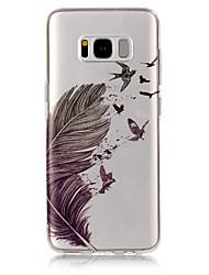 economico -Custodia Per Samsung Galaxy S8 Plus S8 IMD Transparente Fantasia/disegno Custodia posteriore Piume Morbido TPU per S8 S8 Plus S7 edge S7