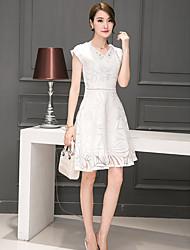 unterzeichnen 2016 neue Frauen koreanischen dünnen dünnen langen Abschnitt der weiblichen Art und Weise druckte Kleid eugen Schleier