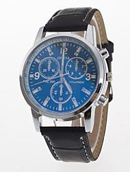 Men's Sport Watch Dress Watch Fashion Watch Wrist watch Quartz Large Dial Genuine Leather Band Charm Multi-Colored