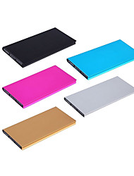 Ultrathin 12000mAh Aluminium Alloy Book Portable Battery Charger Power Bank for Cell Phones