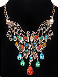 MOGE The Latest Ladies Fashion Europe And The United States Exaggerated Peacock Necklace