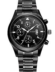 Недорогие -Мужской Нарядные часы Модные часы Повседневные часы Китайский Кварцевый Нержавеющая сталь Группа Cool Повседневная Черный Черный