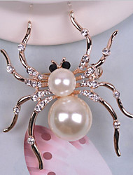 cheap -Women's Brooches Rhinestone Imitation Pearl Animal Design Alloy White Jewelry For Wedding Party Halloween