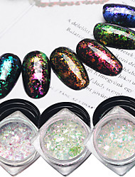 cheap -6pcs Super Bright Chameleon Brocade Star Manicure Powder Sequins 6 Classic Color