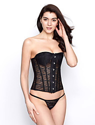 cheap -Lace Plastic Boning Corset Shapewear With T-strap(More Colors) Sexy Lingerie Shaper