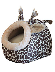 Cat Dog Bed Pet Baskets Leopard Portable Breathable Soft