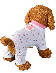 cheap -Dog Jumpsuit Pajamas Dog Clothes Breathable Cute Casual/Daily Fruit Pink Costume For Pets
