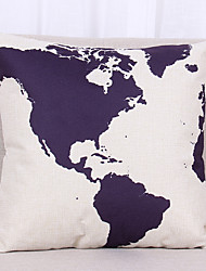 cheap -1 pcs Linen Pillow Cover Pillow Case,Textured Nautical Still Life Graphic Prints Casual Modern/Contemporary Office/Business Outdoor Euro