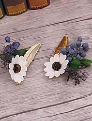 billige -lin stof legering blomster hovedstykke klassisk feminin stil