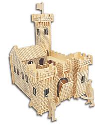 economico -Kit fai-da-te Puzzle 3D Puzzle Giocattoli di logica e puzzle Giocattoli Quadrato Castello Edificio famoso Edificio in stile orientale Casa
