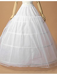 Wedding Special Occasion Slips Polyester Tulle Netting Floor-length A-Line Slip Ball Gown Slip With