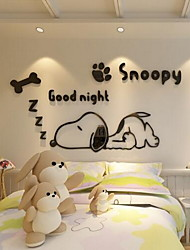 Cartoon Wall Stickers 3D Wall Stickers Decorative Wall Stickers,Glass Material Home Decoration Wall Decal