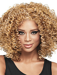 Fashion Curly Blonde Color Synthetic Wigs For European And Afro Women