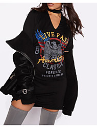 AliExpress ebay wish explosion models eagle print halter dress sexy T-shirt