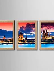 Stampe fotografiche Riproduzione Paesaggi Classico Realismo,Tre Pannelli Stile Panoramica Stampa artistica Decorazioni da parete For