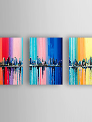 Hand-Painted Still Life Horizontal,Modern Three Panels Canvas Oil Painting For Home Decoration