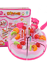 Pretend Play Toy Kitchen Sets Toy Foods Toys Circular Friut Simulation Kids Boys' Girls' Pieces