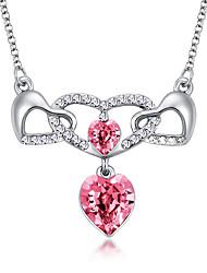 Dámské Přizpůsobeno láska Srdce minimalistický styl Euramerican Náhrdelníky s přívěšky Křišťál Chrome Náhrdelníky s přívěšky , Svatební