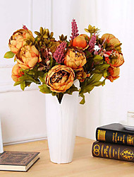 economico -1 Ramo Fiori secchi Rose Fiori da tavolo Fiori Artificiali