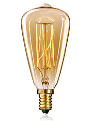 cheap -E14 25W St48 Yellow Light Bulb Edison Small Screw Cap Retro Chandelier Decorative Light Bulbs
